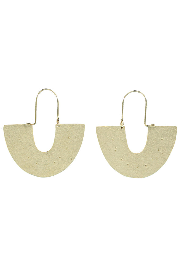 Callie Gold Brass Statement Earrings
