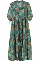 Cherry Green Printed Maxi Dress