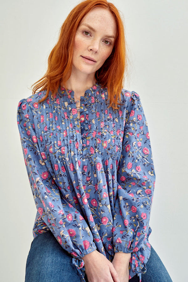 Cherry Woodblock Blouse