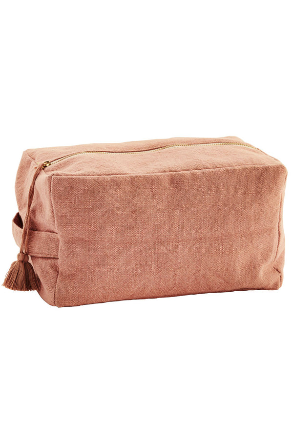 Coral Cotton Cosmetic Bag