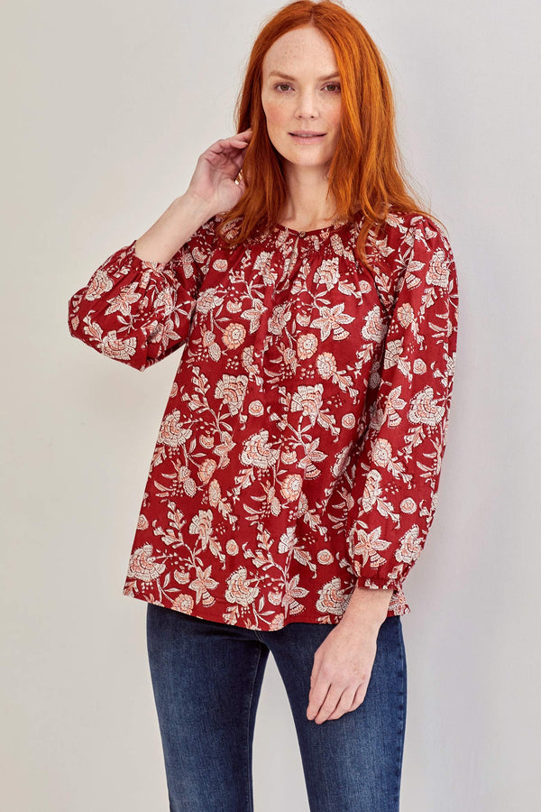 Daria Print Organic Cotton Top