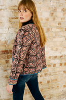 Delia Woodblock Quilted Jacket
