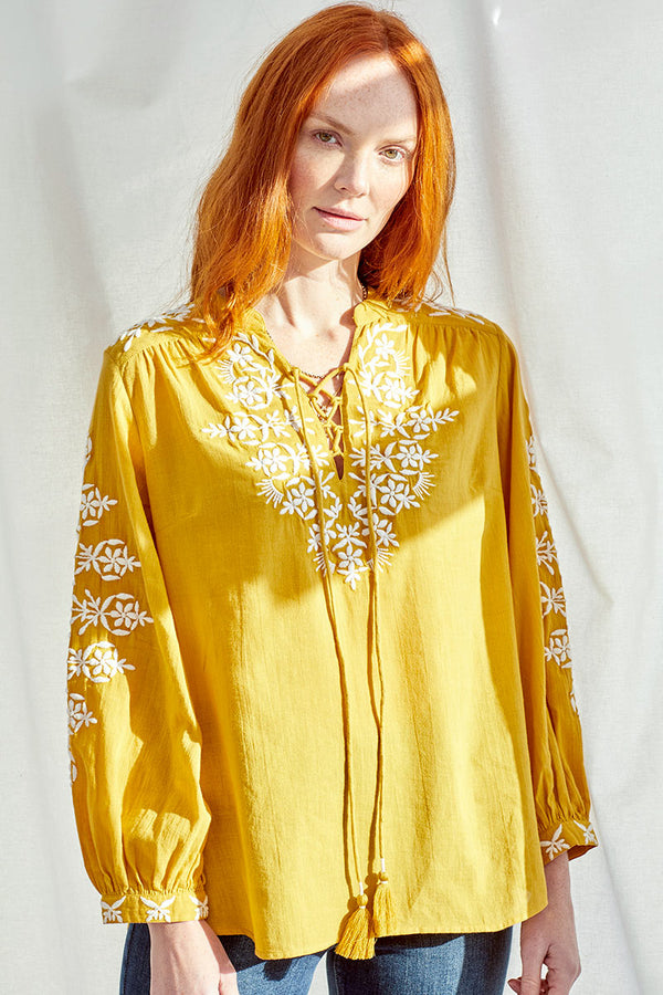 Georgie Embroidered Blouse