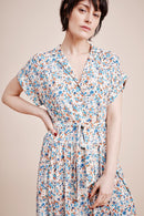 Harley Blue Floral Print Shirt Dress