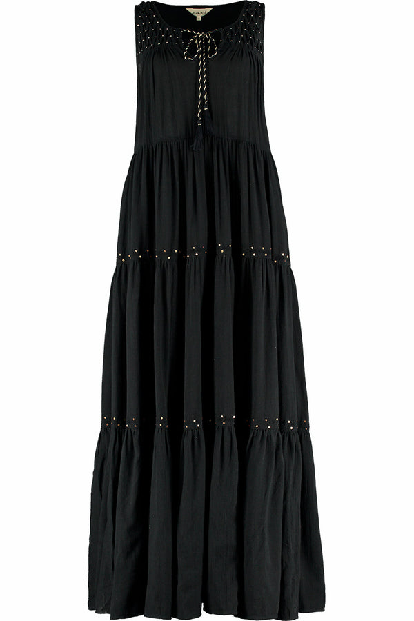 Harper Black Organic Cotton Maxi Dress