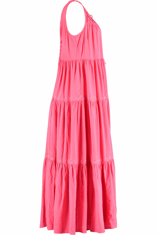 Harper Pink Organic Cotton Maxi Dress