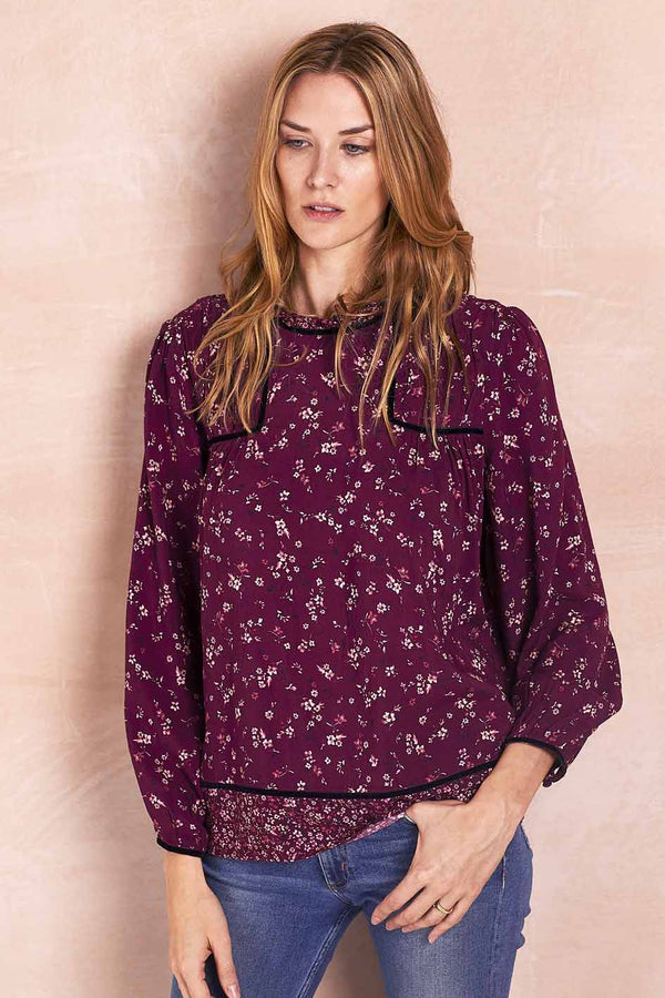 Hazel Purple Print Blouse