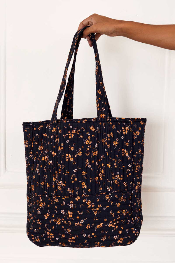 Hazel Print Quilted Tote Bag
