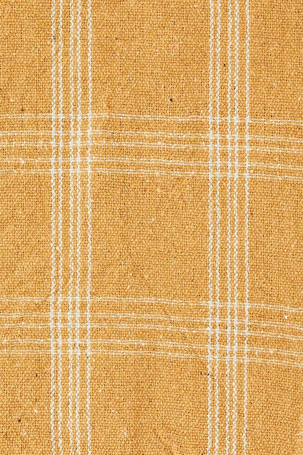 Honey Checked Recycled Cotton Throw