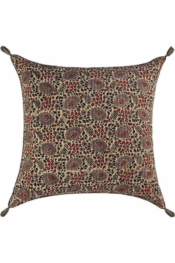 Indira Woodblock Quilted Cushion Cover