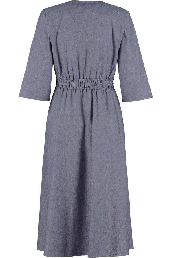 Kayla Khadi Blue Midi Dress