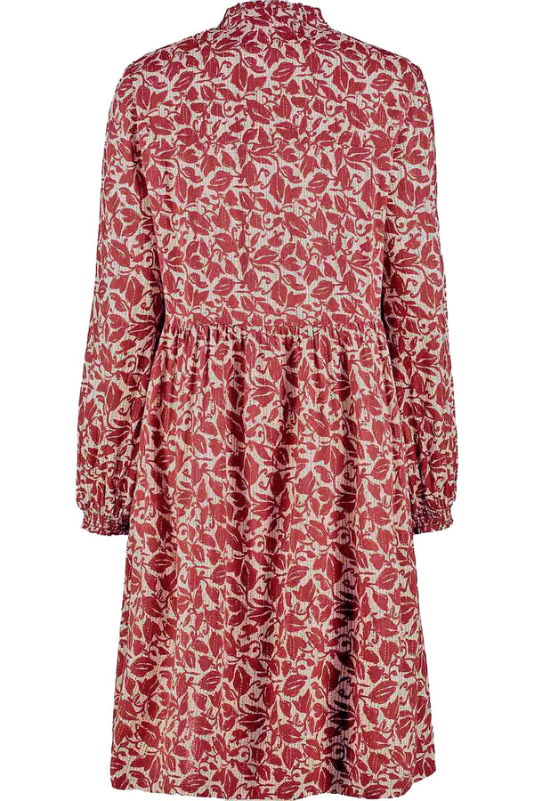 Laurie Red Floral Print Dress