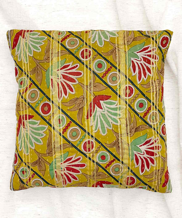 Limited Edition Yellow Upcycled Cushion Cover