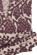Purple Printed Cotton Robe