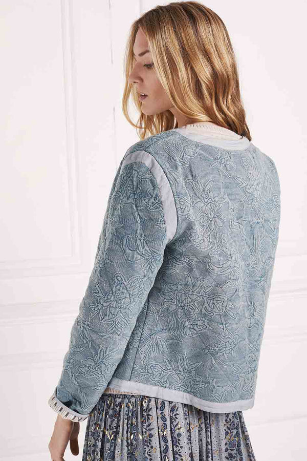 Mackenzie Blue Quilted Jacket