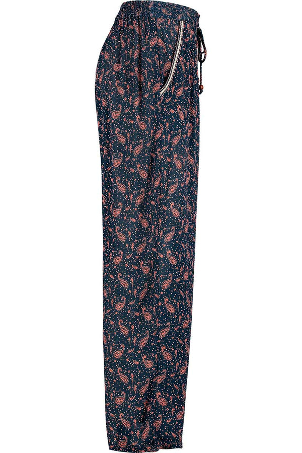 Maeve Print Navy Paisley Trouser