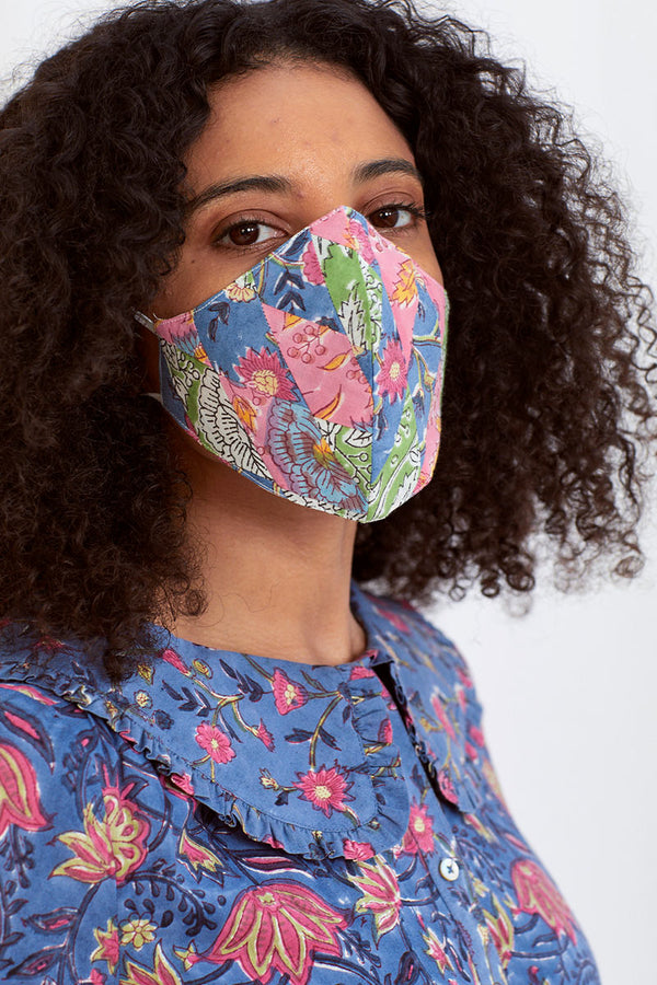 Pink Patchwork Face Mask