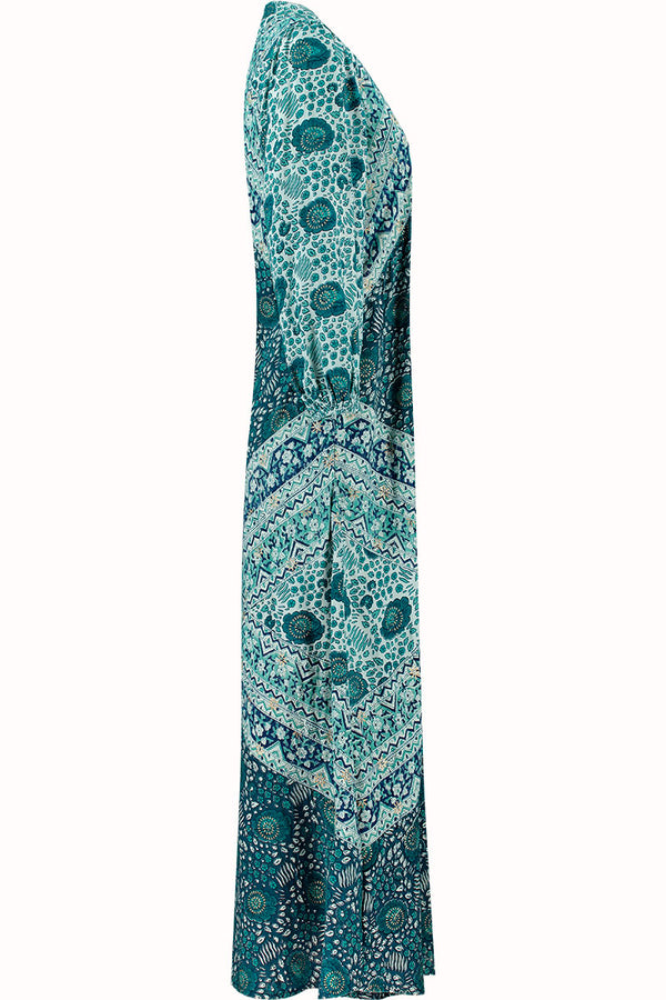 Myra Woodblock EcoVero Maxi Dress