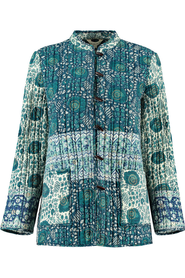 Myra Woodblock Quilted Jacket