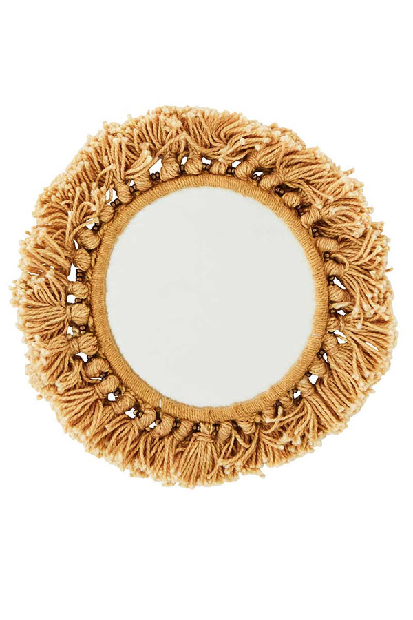 Pocket Mirror With Fringes