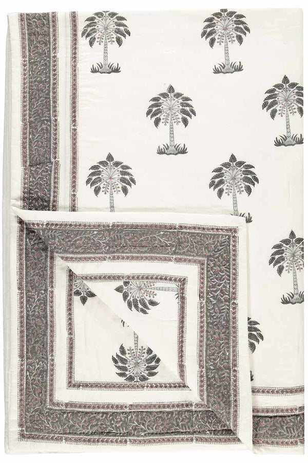 Palm Print Woodblock Quilt