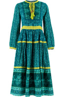 Pinky Organic Cotton Vibrant Teal Dress