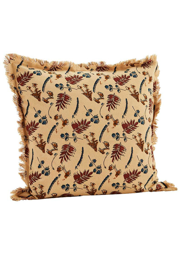 Printed Cushion Cover With Fringes