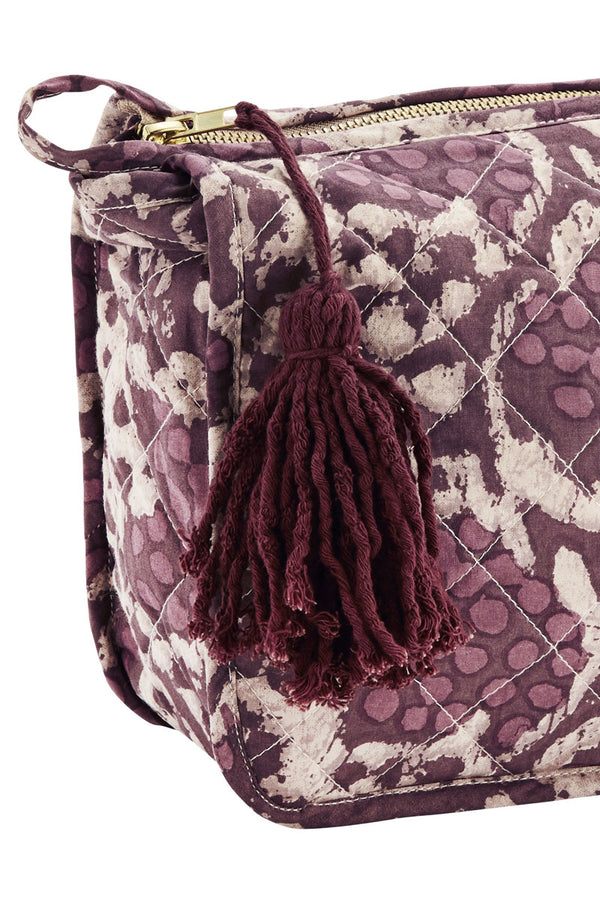 Purple Printed Wash Bag