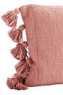 Rose Cushion Cover with Tassels