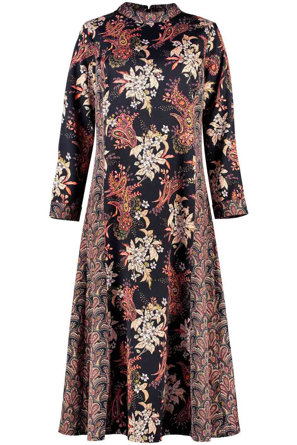 Simmi Black Paisley Print Dress