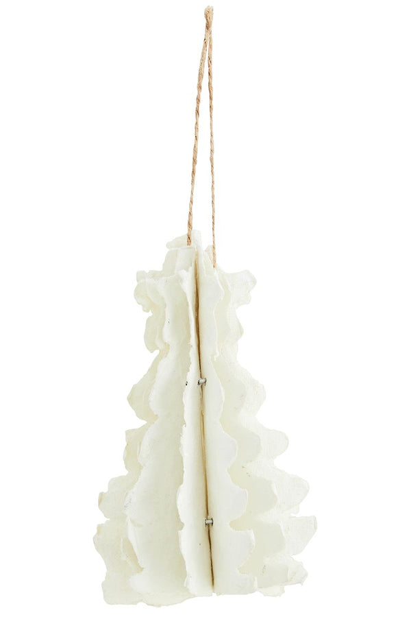 Hanging Paper Pulp White Xmas Tree