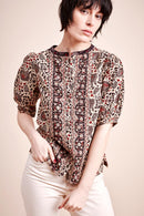 Willow Woodblock Print Blouse