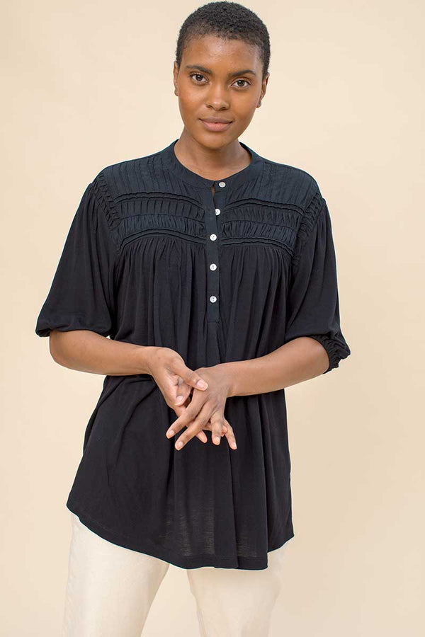 Zoya Black Jersey Top