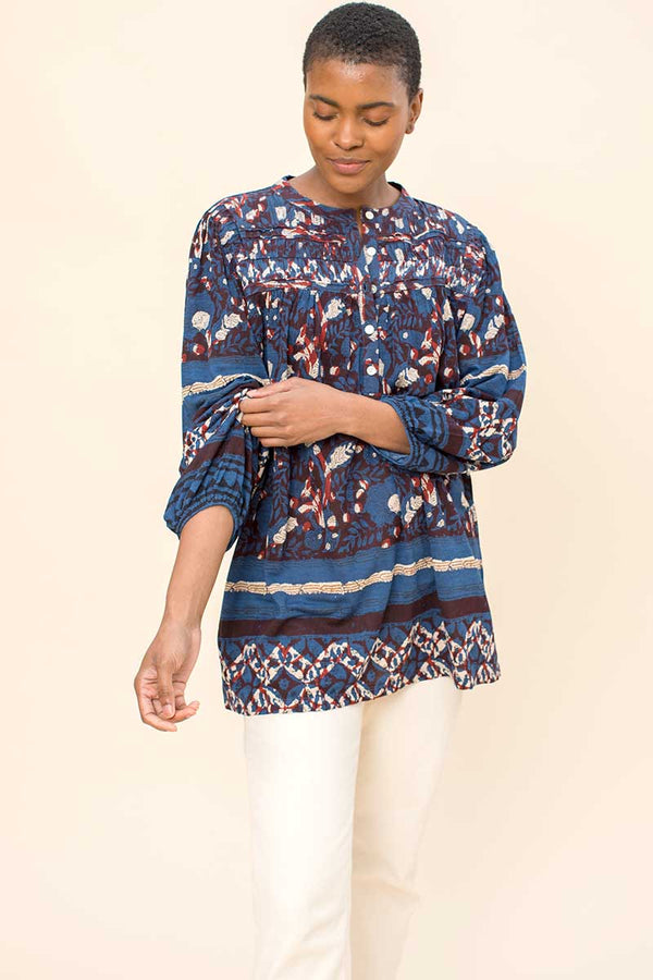 Zoya Printed Jersey Top