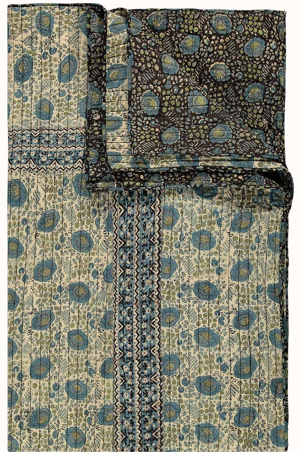 Aarti Woodblock Organic Cotton Quilt