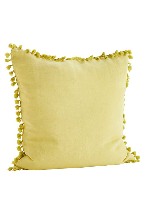 Lemon Cushion Cover With Tassels
