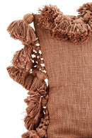 Copper Cushion Cover with Tassels