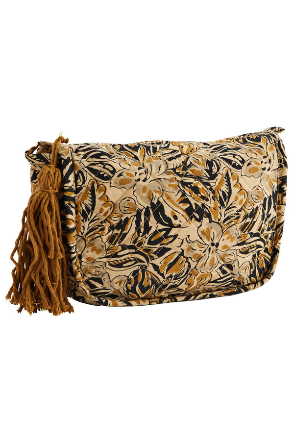 Ochre Printed Make Up Bag