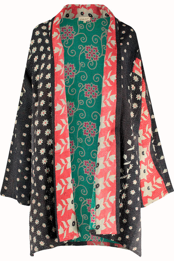 Limited Edition Black Recycled Sari Jacket