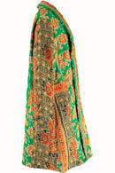 Limited Edition Green Recycled Sari Jacket