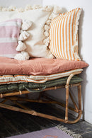 Striped Cushion Cover with Fringes