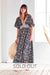 Avalon Black Organic Cotton Maxi Dress