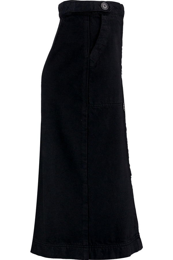 Macie Black Denim Skirt