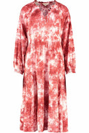 Eden Red Tie Dye Dress