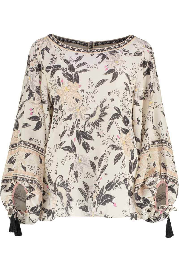 Fallon Print Silk Top