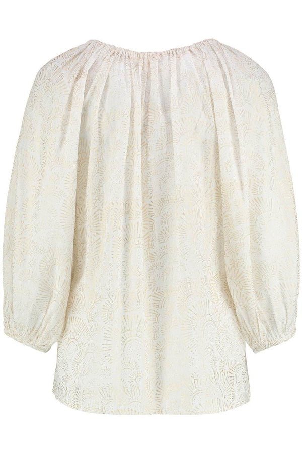 Farah White Organic Cotton Smock Top