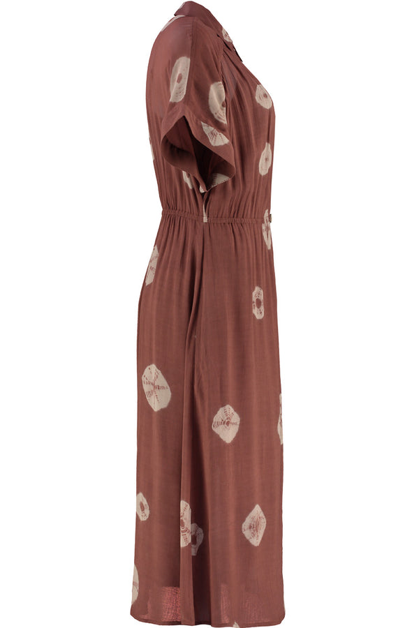 Kyra Brown Tie Dye Midi Dress
