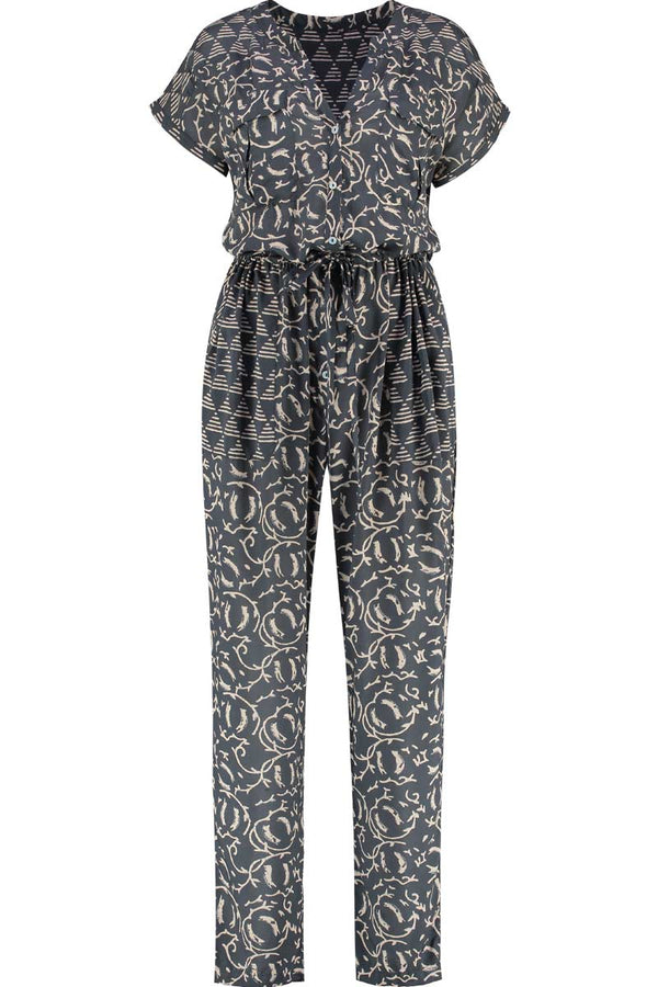 Kiran Charcoal Woodblock Jumpsuit