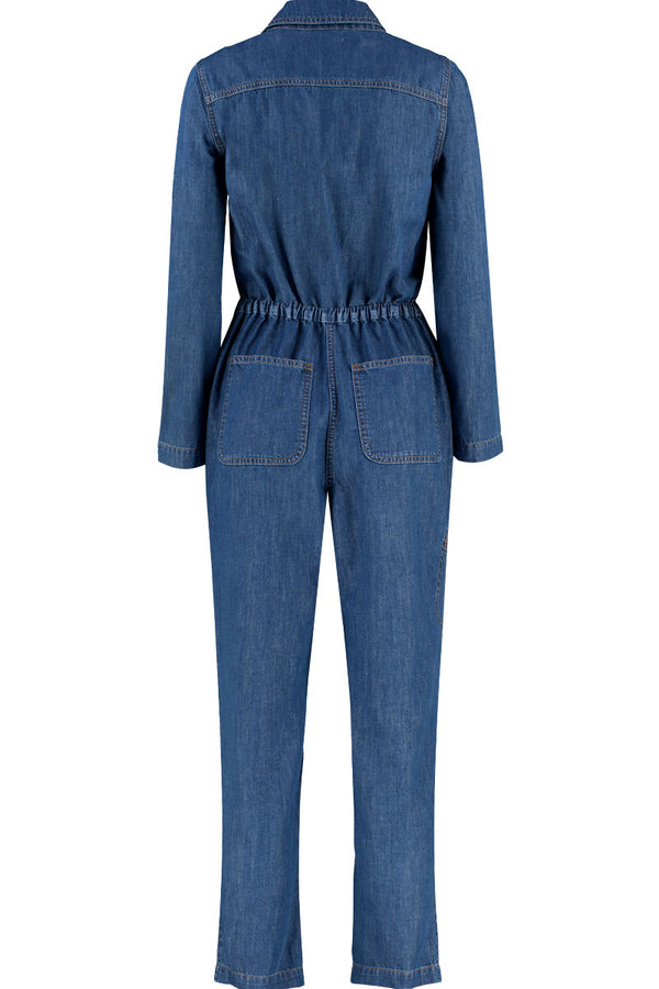 Lucia Denim Long Sleeve Jumpsuit