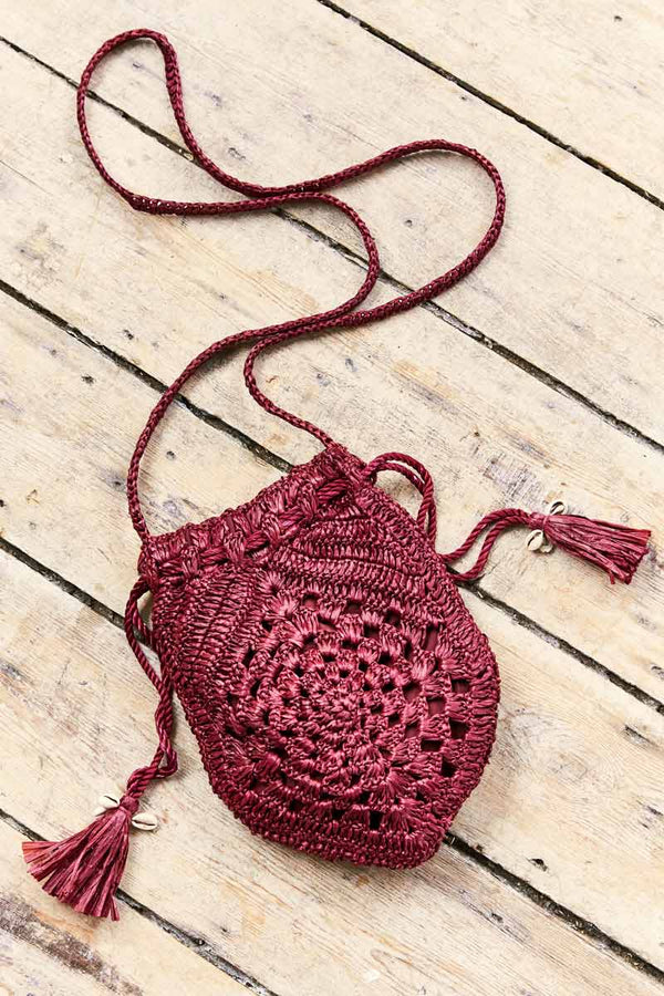 Willow Berry Raffia Cross Body Bag